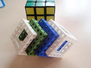 More Maze N-Cube in White Natural Versatile Plastic
