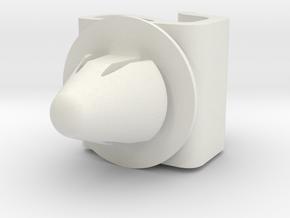 Clip Volvo 3121595 in White Natural Versatile Plastic