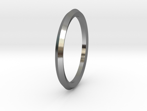 Penta Ring - An unconventional Wedding Ring in Polished Silver: Medium