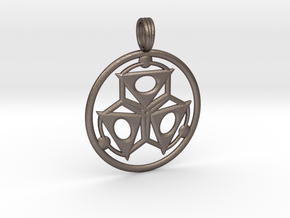 ELEMENT THREE in Polished Bronzed Silver Steel