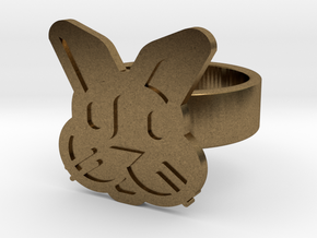 Rabbit Ring in Natural Bronze: 8 / 56.75