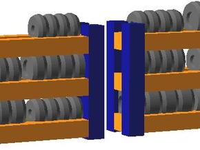 Tire Racks - Zscale in Smooth Fine Detail Plastic
