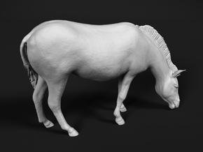Plains Zebra 1:25 Grazing Female in White Natural Versatile Plastic