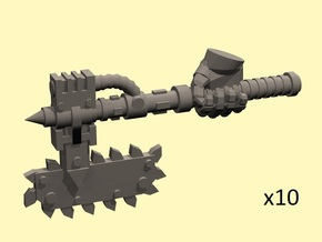28mm Mordacius chainaxe (+right hand) in Smoothest Fine Detail Plastic