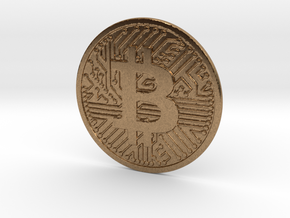 Bitcoin (2.25 Inches) in Natural Brass
