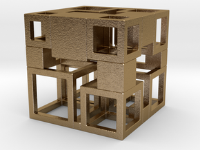 Perfect Cubed Cube Frame 41-20-2 in Polished Gold Steel