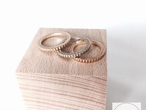 Ingranaggi Ring S/M 17mm in Polished Brass