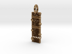 Cell Membrane Pendant - Science Jewelry in Natural Brass