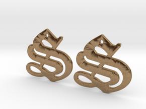 SISU (precious metal earrings) in Natural Brass