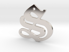 SISU (precious metal pendant) in Rhodium Plated Brass
