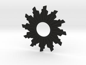 Sun Flare Necklace in Black Natural Versatile Plastic