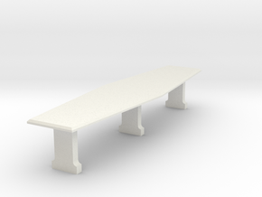 Ward Room Table (Star Trek Deep Space 9), 1/30 in White Natural Versatile Plastic