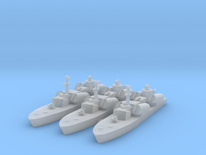 Soviet Osa Missile Boat x 3 1/1250 and 1/1800 in Smooth Fine Detail Plastic: 1:1250