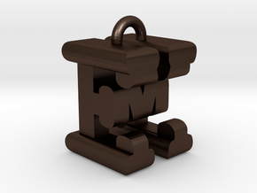 3D-Initial-EM in Matte Bronze Steel