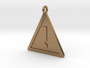 Warning Sign Pendant in Natural Brass