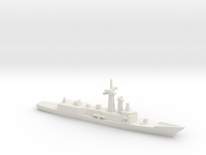 Oliver Hazard Perry-class frigate, 1/1800 in White Natural Versatile Plastic