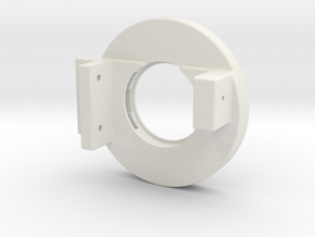 Rampage Encoder Mount Left Back in White Natural Versatile Plastic