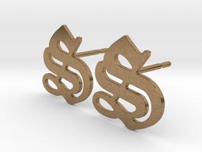 SISU (precious metal stud earrings) in Natural Brass