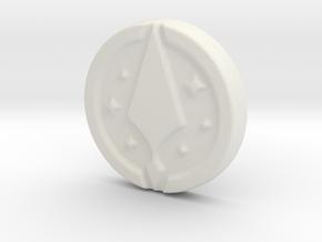 Ares Pistol Grip Medallion 2 in White Natural Versatile Plastic