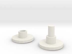 Spinner Caps in White Natural Versatile Plastic