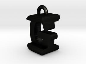 3D-Initial-GI in Matte Black Steel