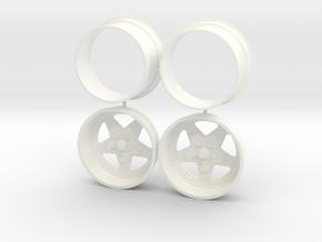 Weld Prostar Rear 1/12 in White Processed Versatile Plastic