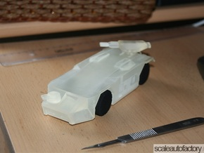 Alien APC M-577 Scale1/48 (Body,Weapons,Wheels) in Smooth Fine Detail Plastic
