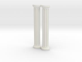 Greek / Roman Column Set in White Natural Versatile Plastic