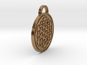 Flower of Life / Metatrons cube Pendant in Natural Brass