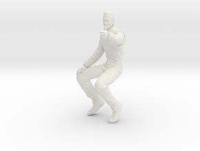 1/[12, 18, 20, 24, 32, 43]  F1 Racer Schumacher A in White Natural Versatile Plastic: 1:20