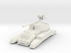 Vehicle- Valentine Tank Archer (1/72) no tracks in White Natural Versatile Plastic