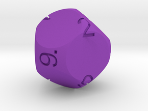 Big Spherical D9 Dice in Purple Processed Versatile Plastic
