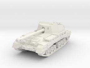 Archer tank (United Kingdom) 1/87 in White Natural Versatile Plastic