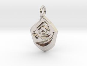 Rose Pendant in Rhodium Plated Brass