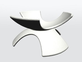 DRAW geo - display stand A - 1p5 inch diameter in White Strong & Flexible