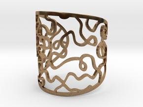 Vesta bangle - open cuff in Natural Brass