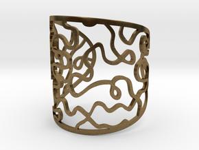 Vesta bangle - open cuff in Natural Bronze