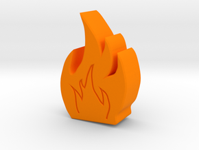Fire Game Piece A in Orange Strong & Flexible Polished