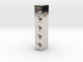 1x5 Necklace Pendant in Platinum