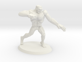 Mutant Rage Zombie in White Natural Versatile Plastic