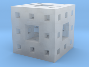 "1"" menger sponge in Smooth Fine Detail Plastic"