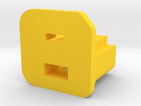RASPBERRY UMPC BATTERY COVER in Yellow Processed Versatile Plastic