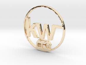 Kw key chain in 14K Gold