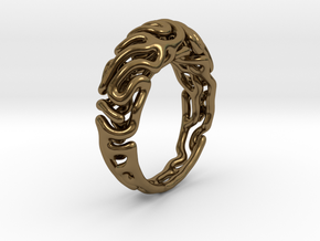 Reaction Diffusion Ring 5 (size 60) in Polished Bronze