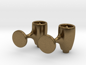 Jet Engine Cufflink in Natural Bronze