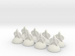 Star Trek Pawns2 (2) in White Natural Versatile Plastic