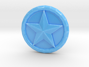 Mary's Magical Adventure - Powerup Coin in Gloss Blue Porcelain