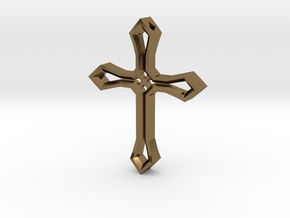 Cross Pendant in Polished Bronze