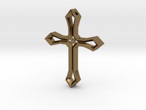 Cross Pendant in Polished Bronze