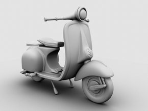 Scooter in White Natural Versatile Plastic